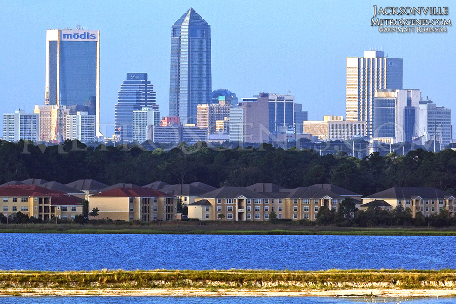 Jacksonville skyline with Mill Cove