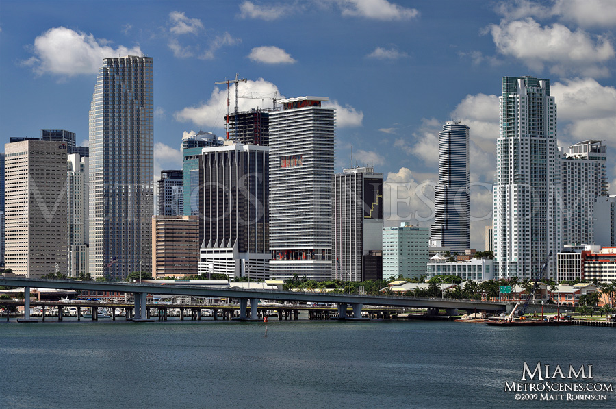 Downtown Miami across Biscayne Bay