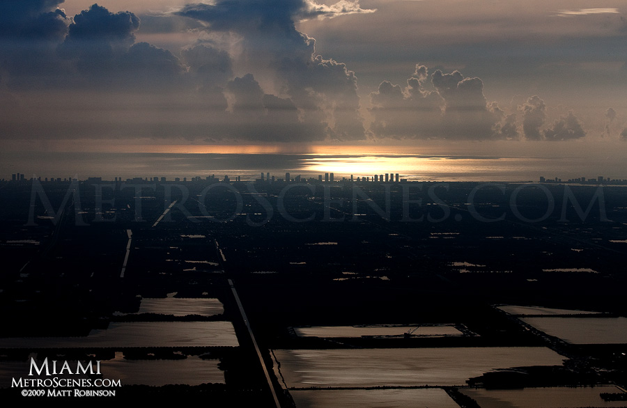 Morning aerial over Miami