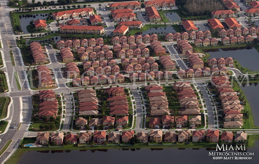 Air view of homes