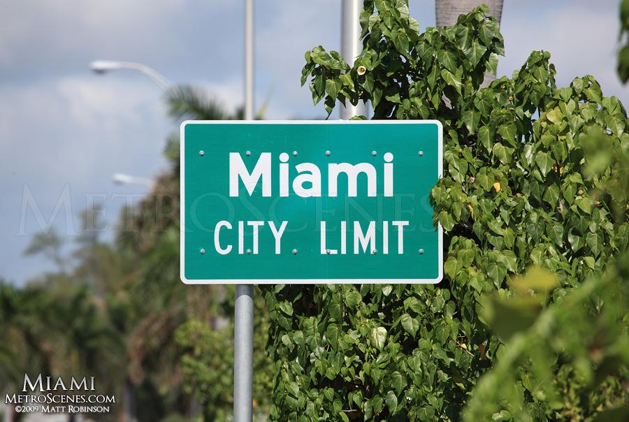 Miami City Limit sign