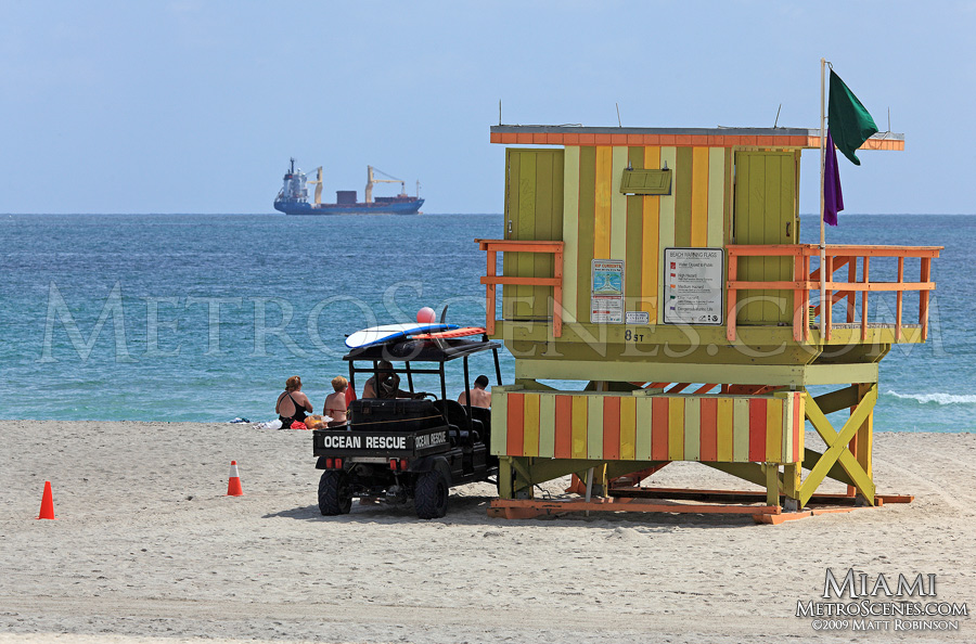 Lifeguard station on South Beach