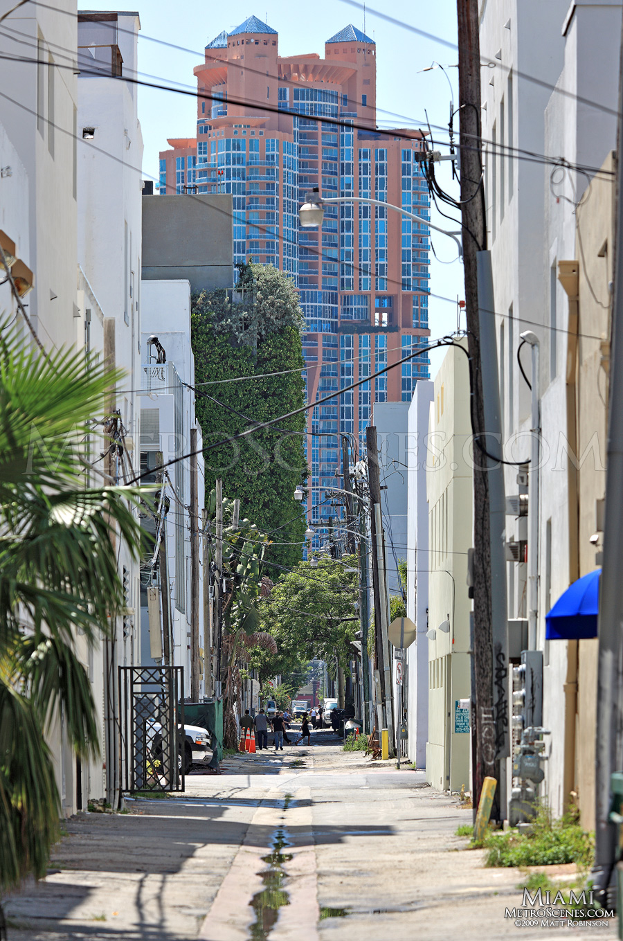 South Beach alley with Portofino Tower