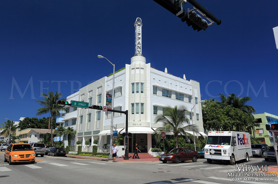 The Hotel of South Beach Tiffany signage