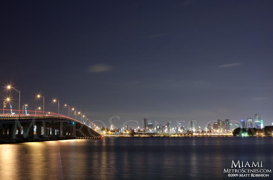 Miami with MacArthur Causeway