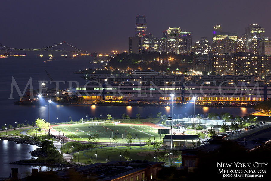 Waterfront Park Field with Jersey City