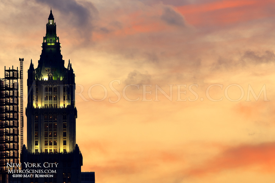 Woolworth Building silhouette