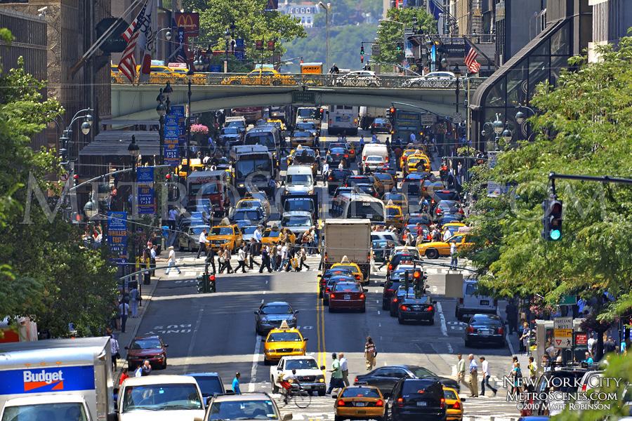 Traffic clutter on 42nd Street