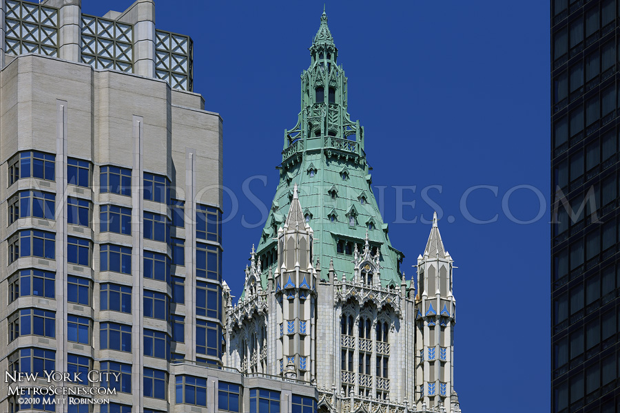 The crown of the Woolworth Building