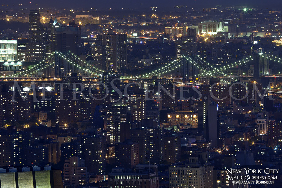 Bridges of New York at night