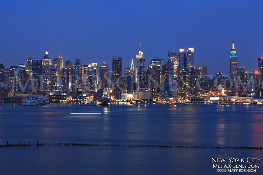 New York City Skyline and Hudson River