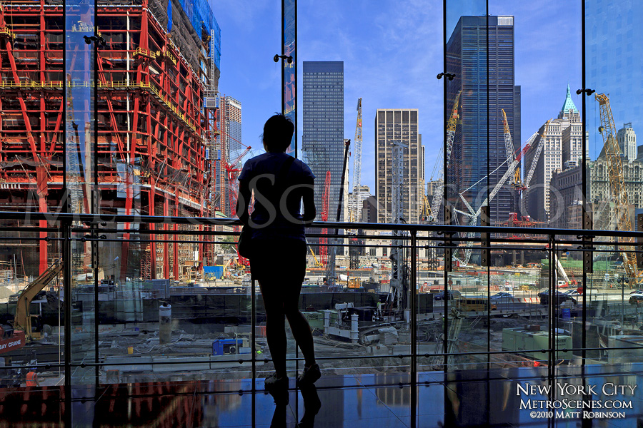 Viewing the construction site of the World Trade Center