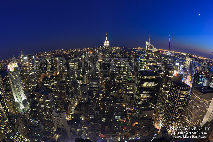 Fisheye from Rockefeller Center