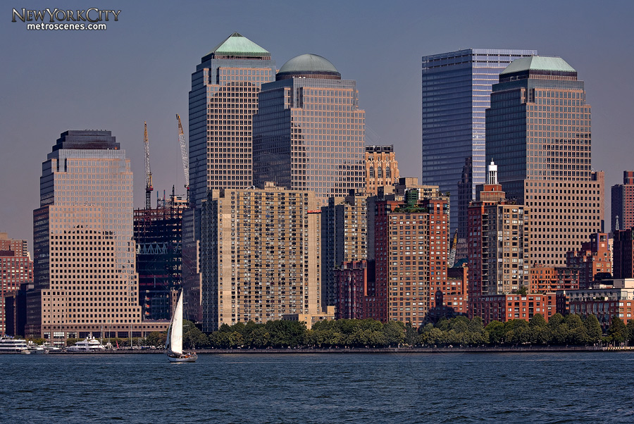 The buildings of the World Financial Center and World Trade Center No. 7 in lower Manhattan.