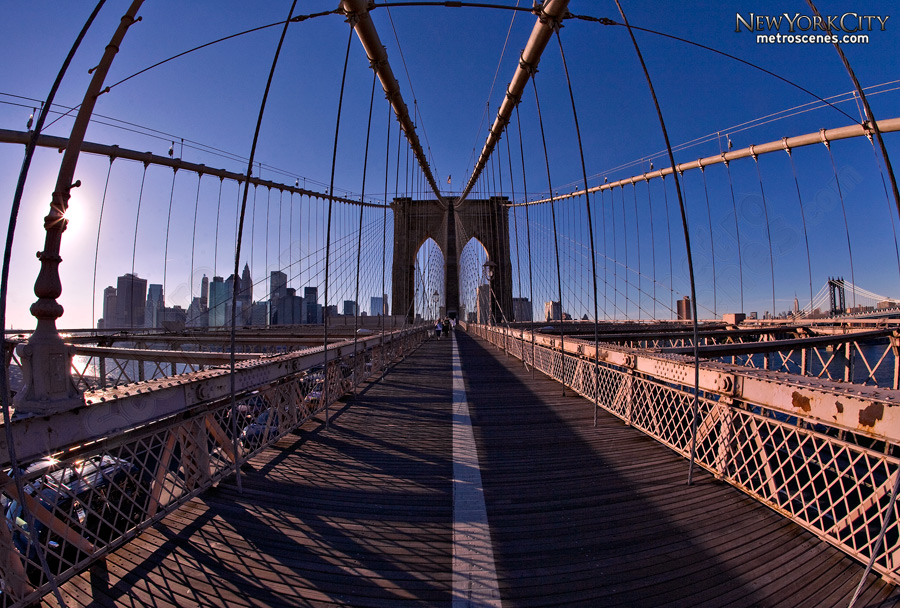 Fisheye of Brooklyn Bridge