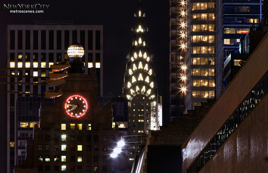 Chrysler Building peeking.