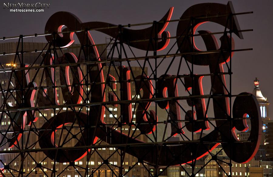 Reverse Pepsi Cola sign, Queens.