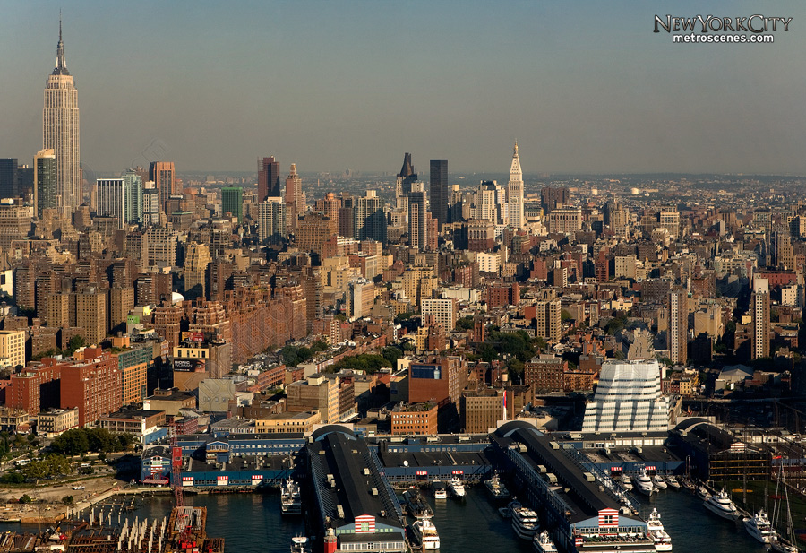 Aerial of Midtown Manhatten