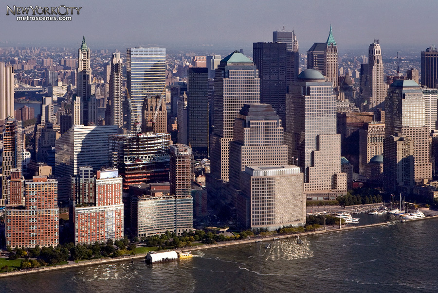 Lower Manhattan aerial.