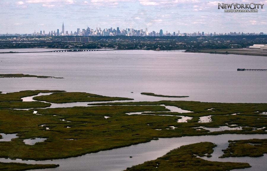 Gateway National Recreation Area with New York Skyline