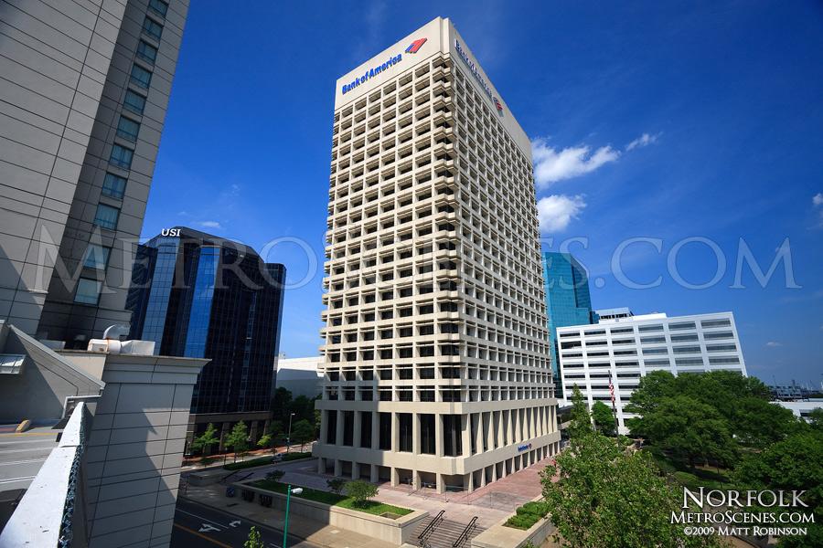 Bank of America building, Norfolk, Virginia Skyline