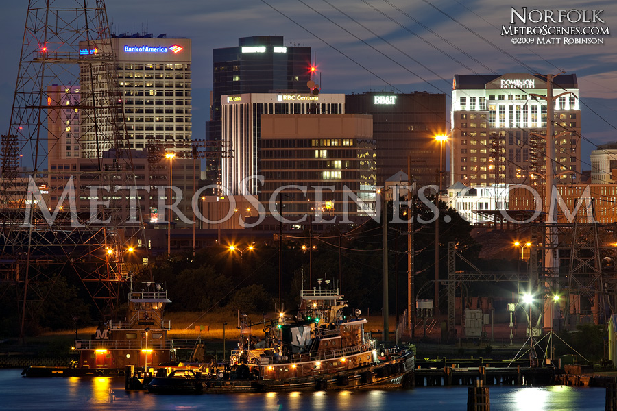Norfolk, Virginia Skyline