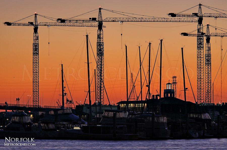 Ship cranes in Norfolk