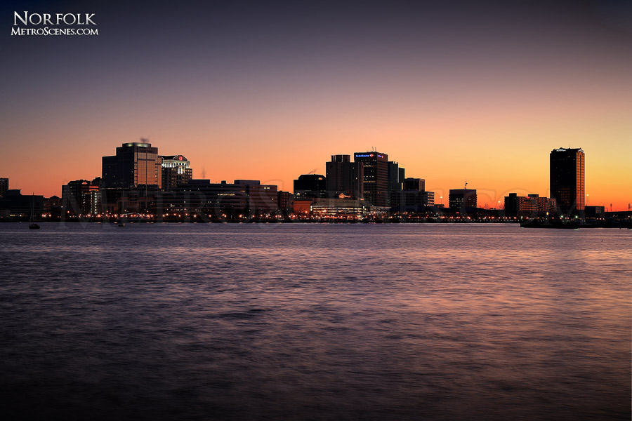 Norfolk Skyline from Portsmouth