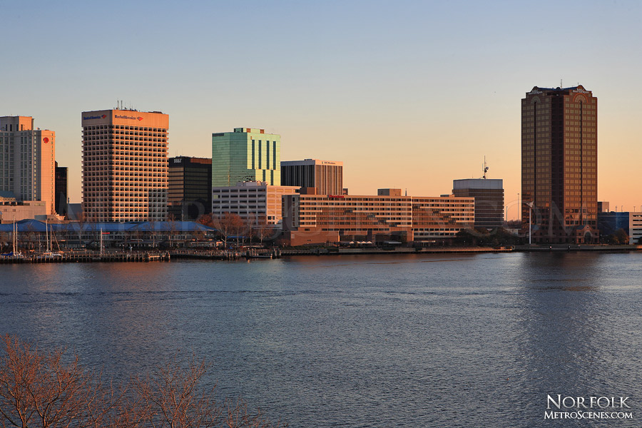 Sunset in Norfolk, Virginia