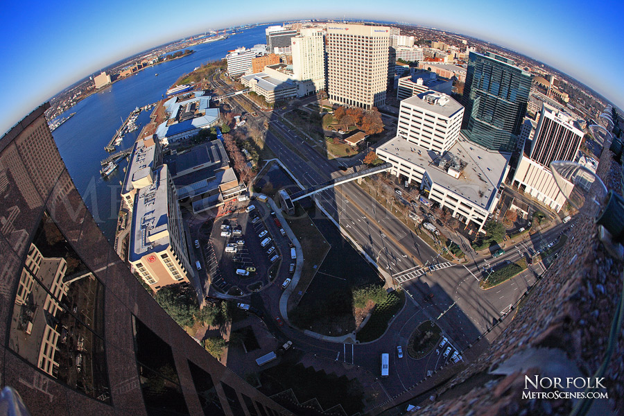 Fisheye from the roof of Dominion Tower