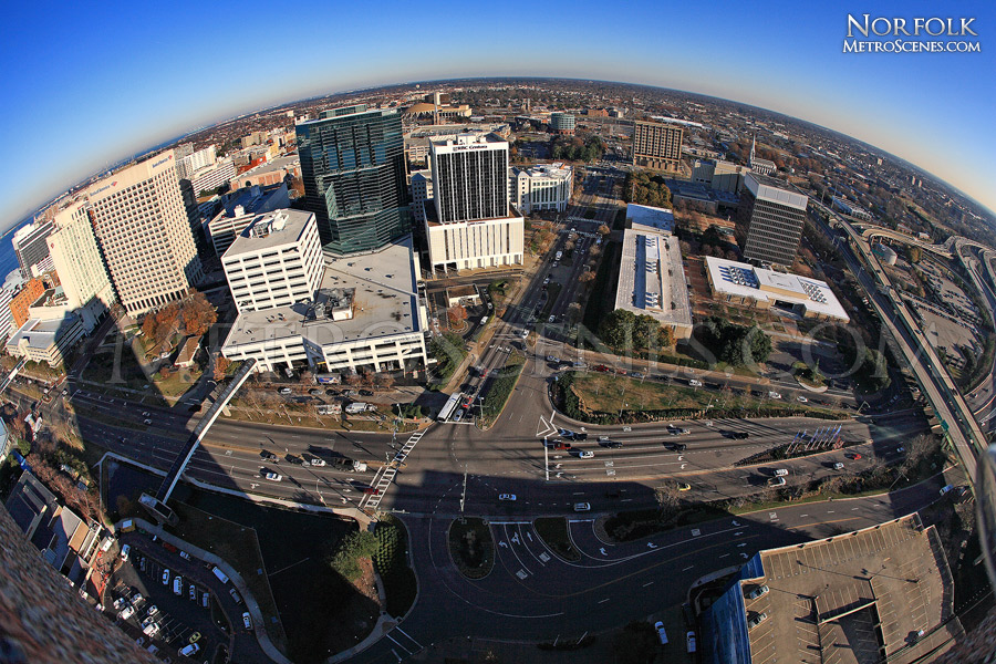 Fisheye over Norfolk, VA