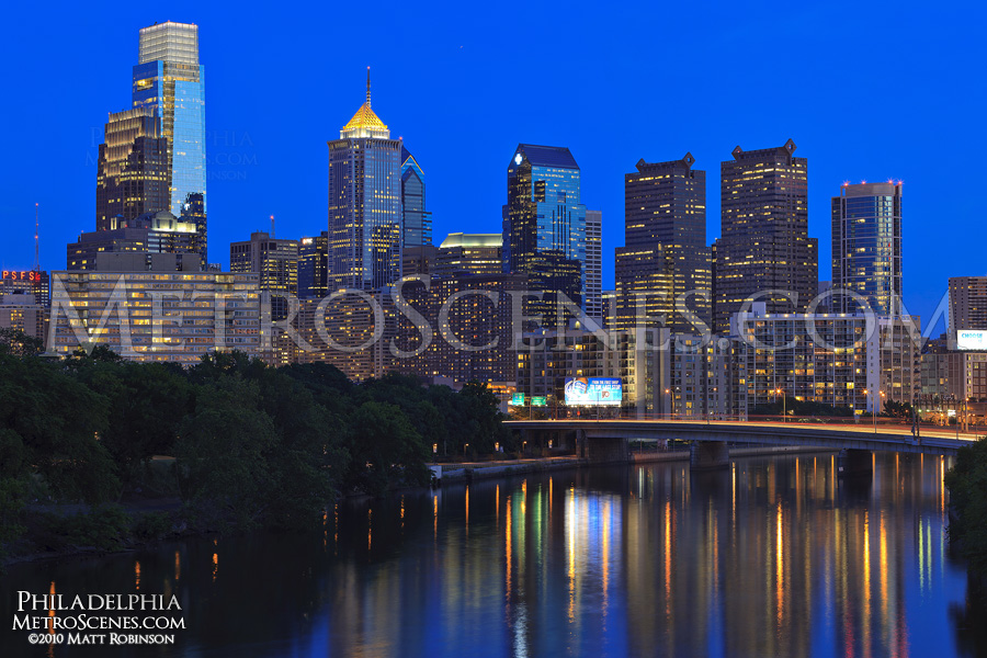 Philadelphia Skyline reflects in the Schuylkill River