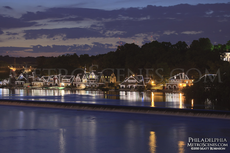 Boathouse Row at sunset