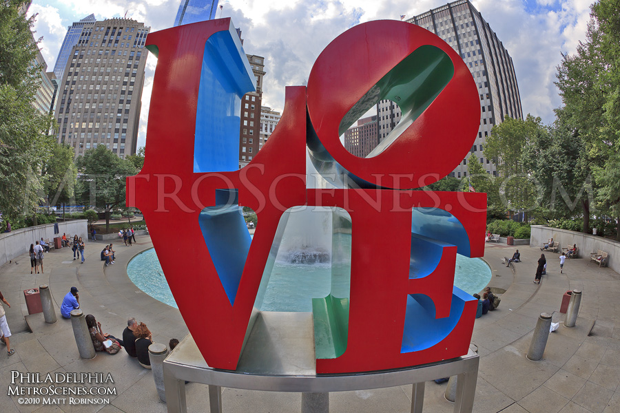 LOVE Sculpture in JFK Plaza in Philadelphia