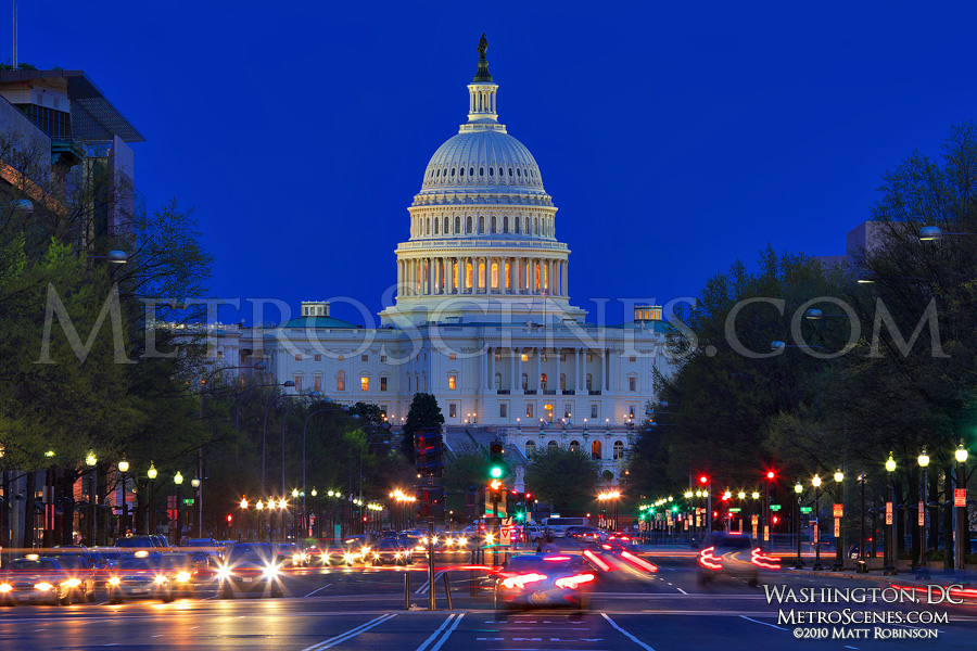 US Capital at magic hour