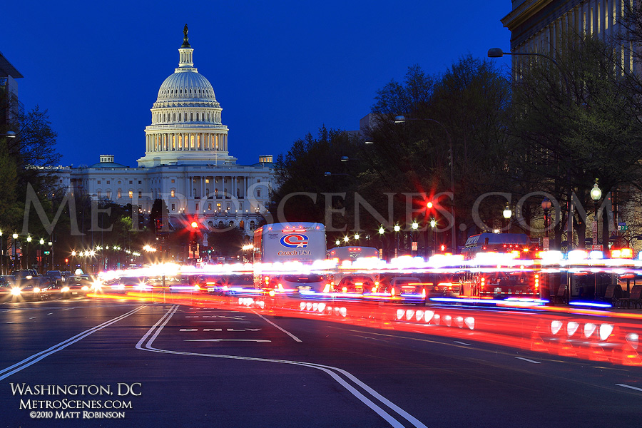 United States Capitol looking down Pennsylvania Avenue