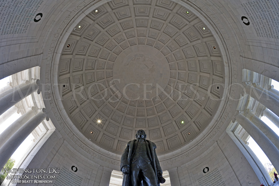 Fisheye of the Jefferson Memorial dome