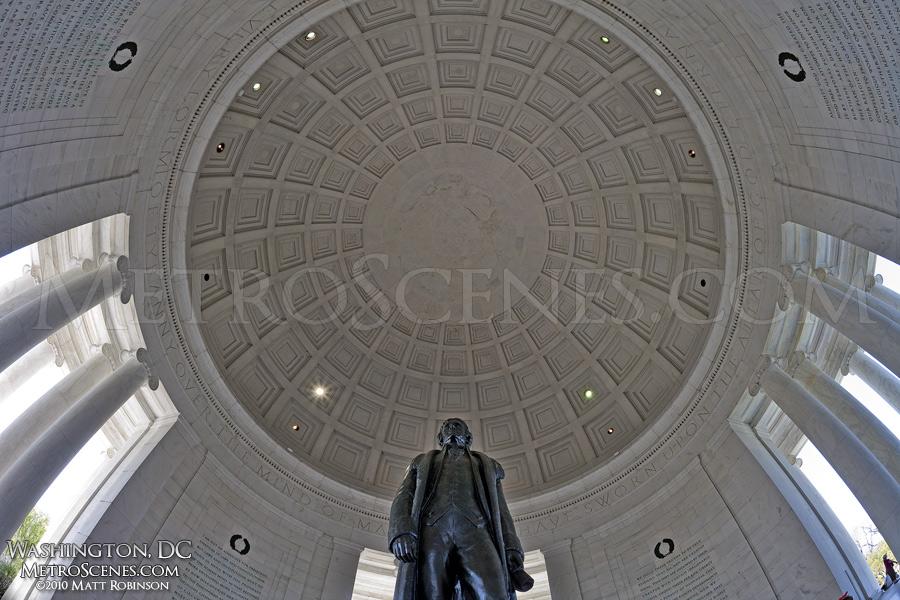Fisheye of the Jefferson Memorial dome