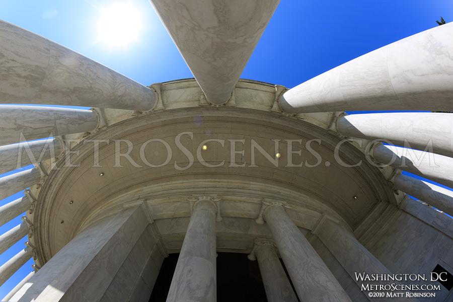 Fisheye of Columns of the Jefferson Memorial