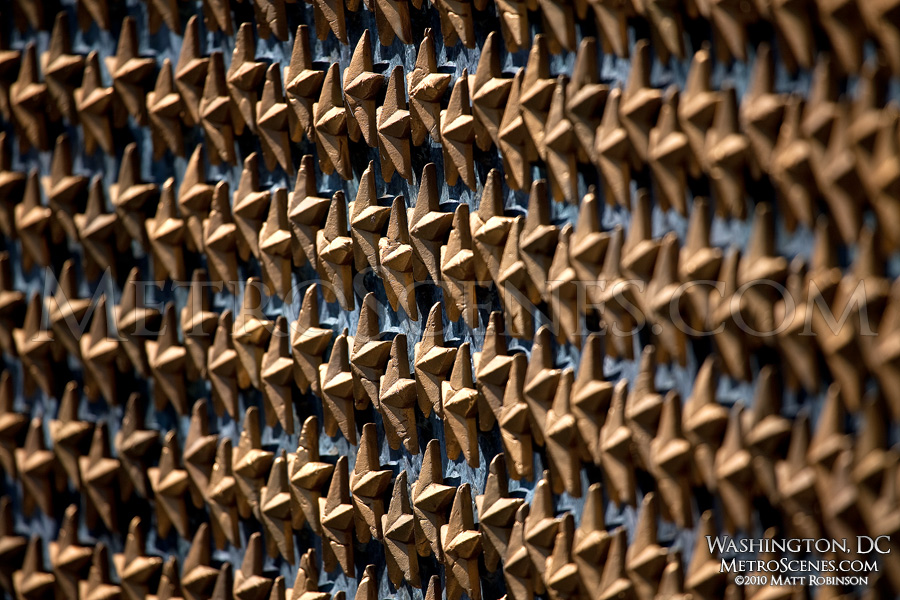 Stars at the World War II memorial