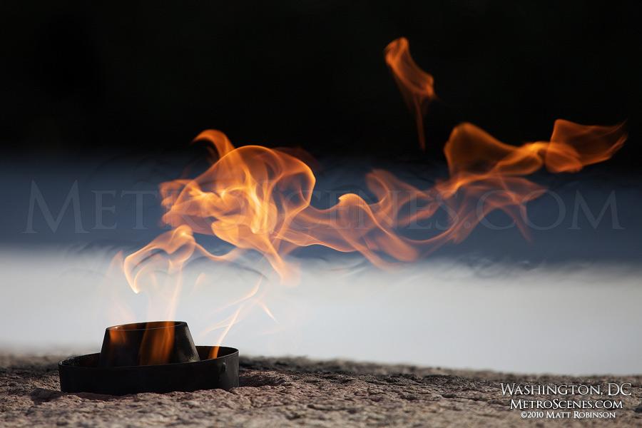 The eternal flame at John F. Kennedy memorial