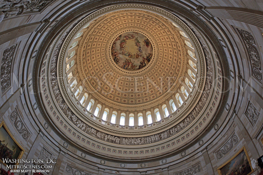 Fisheye of the rotunda of the United States Capitol