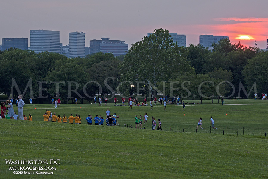 Arlington, Virginia skyline at sunset
