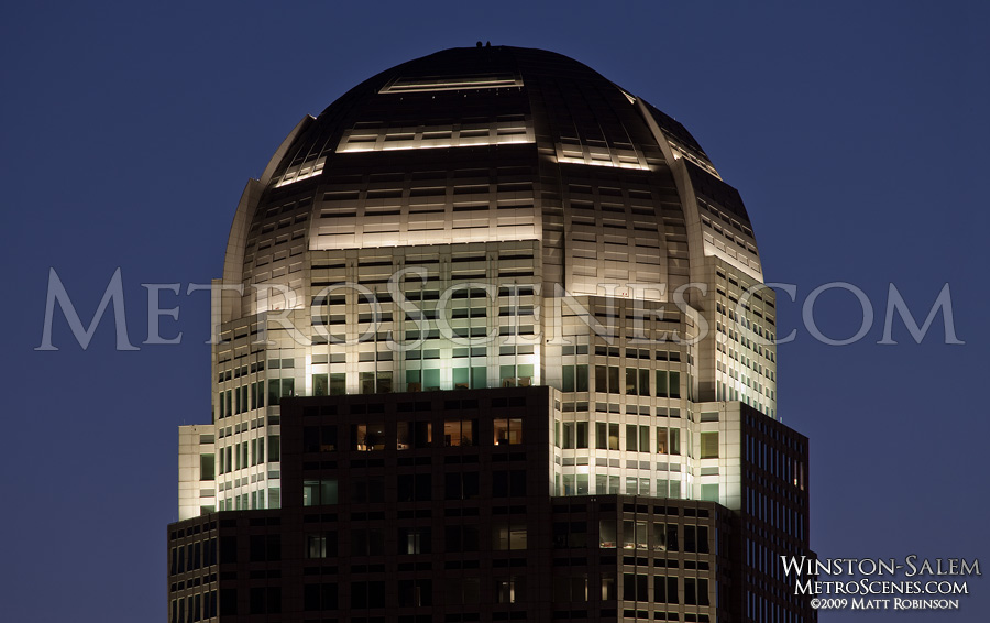 Wachovia Building crown, Winston Salem