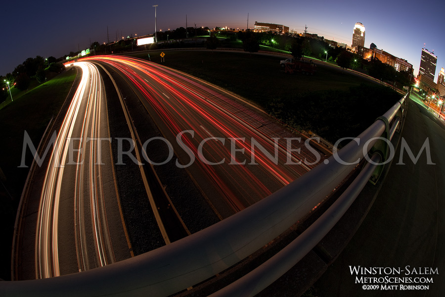 Fisheye traffic of Winston-Salem, North Carolina