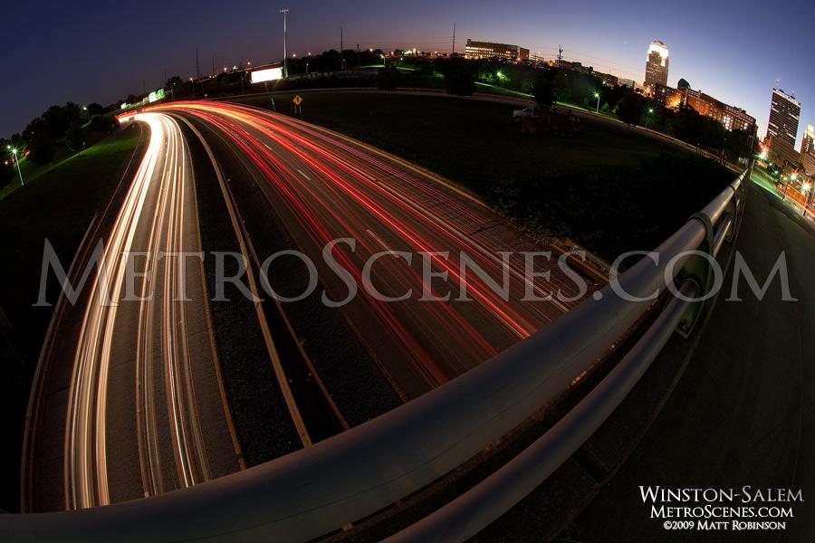 Fisheye traffic of Winston-Salem, North Carolina