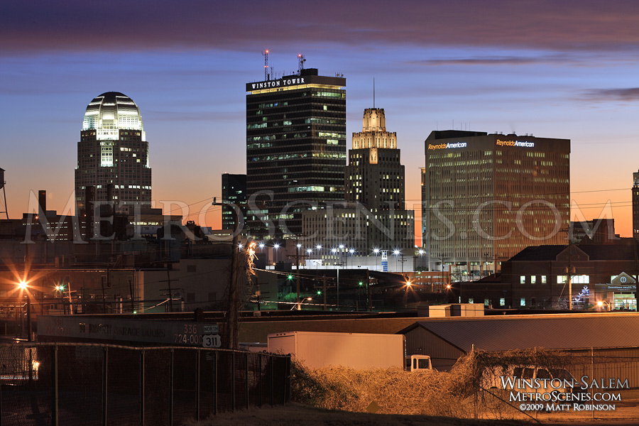 Winston-Salem Skyline at night