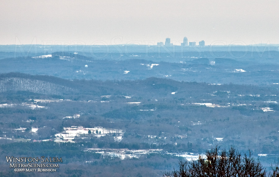 Winston-Salem from over 40 miles away